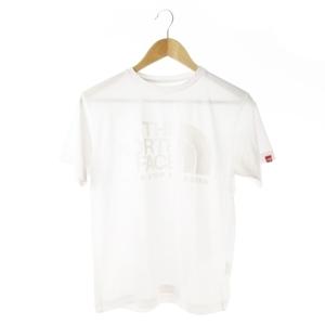 ザノースフェイス THE NORTH FACE Tシャツ カットソー クルーネック 半袖 ロゴ プリント S ライトグレー /AO1 ☆