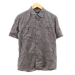 ニコルセレクション NICOLE selection シャツ 半袖 花柄 50 紺 ネイビー /AAM7 メンズ