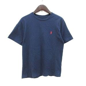 ポロ ラルフローレン POLO RALPH LAUREN Tシャツ カットソー 半袖 クルーネック ロゴ刺繍 M 紺 ネイビー /CT レディース