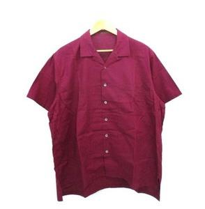 ワイズフォーメン 90's オープンカラーシャツ 開襟シャツ ボックス型 ビッグシルエット オールド ワインレッド