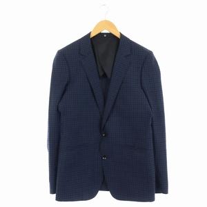 スーツセレクト SUIT SELECT テーラードジャケット ギンガムチェック 背抜き Y5 紺 黒 /AO メンズ