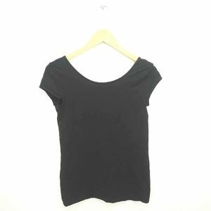 エイチ&エム H&M カットソー Tシャツ 丸首 無地 シンプル 綿 コットン 半袖 M 黒 ブラック /TT12