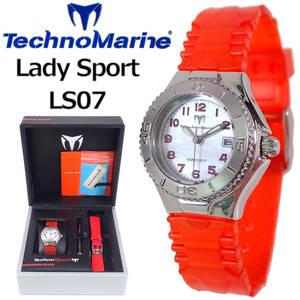 テクノスポーツ Lady Sport LS07 テクノマリーン シェル文字盤 TechnoSport by TechnoMarine OH点検動作品