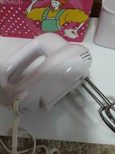 【MO-167R】MATSUDEN HAND MIXER ハンドミキサーMS-303 ホワイト 何度か使用ユースド出品 程度は良いです。