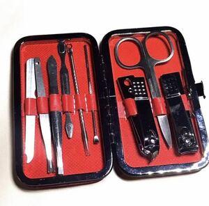 未使用品 クロコケース ネイルケア 爪切りセット アメニティ ネイルセット レザー 化粧 メイクアップ スタイリスト(101)