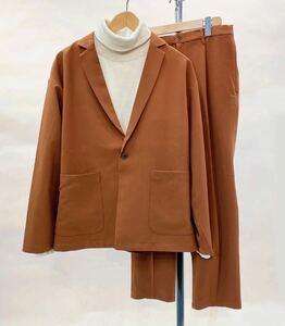 テーラードジャケットセットアップ  ブラウン