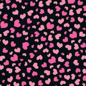 90*USAコットンLoralieロラライハリスMini Heart黒ハンドメイド輸入生地