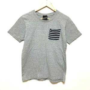 F1851L◇BEAMS T ビームス◇サイズM 半袖 Tシャツ カットソー グレー レディース 綿100% コットン ポケットTシャツ カジュアル