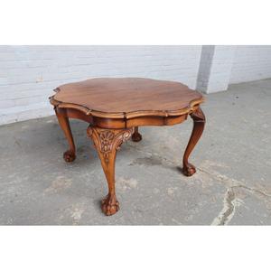 #8961 ヨーロッパ市場在庫品 アンティーク家具 コーヒーテーブル 1930年代 ベルギー原産 ウォールナットその他オーク製