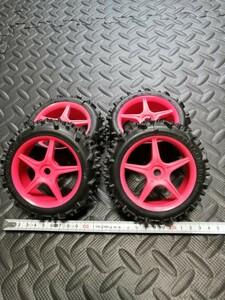 未使用 1/8 バギー用 タイヤセット 4本セット 17mmHEX