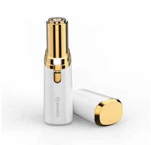 レディースシェーバー 電気シェーバー 産毛 ムダ毛処理 全身対応 電池式 LEDライト付き