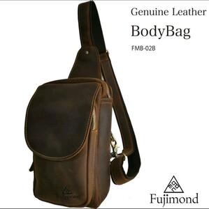 Fujimond 牛革 ワンショルダーバッグ ボディバッグ 高品質 ショルダーバッグ 大容量 斜め掛けバッグ メンズバッグ