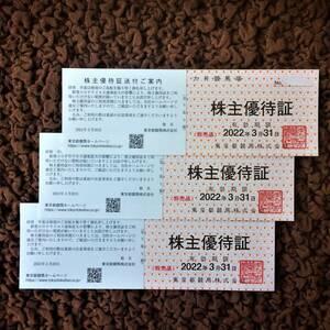 最新 東京都競馬 株主優待「大井競馬場 株主優待証」3枚セット★有効期限:2022年3月31日