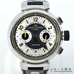 質屋 腕時計 LOUIS VUITTON ルイヴィトン LV タンブール フライバック クロノ ヴォレ Q1028 クロノグラフ 自動巻き AT みいち質店