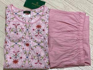 ワコール ミントン MINTON 花柄かぶりタイプ半袖8分丈ズボンパジャマ Lサイズ