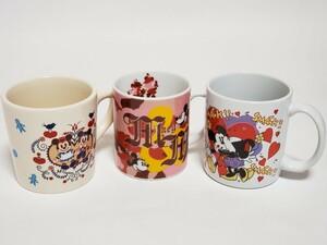 ミッキー&ミニー マグカップ 3個セット〈M077〉