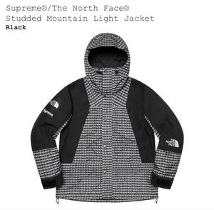 ★送料無料★ Sサイズ Supreme The North Face Studded Mountain Light Jacket BLACK シュプリーム ノースフェイス マウンテンライト 黒