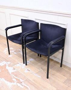 DF036 ◆25万円 Cassina カッシーナ LIMA リマ スウェード アームチェア 椅子 ダイニングチェア 2脚セット ラウンジ 応接 バックスキン