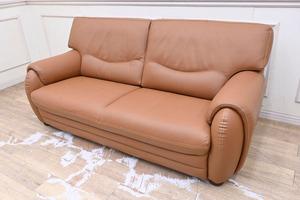 GF06 展示超美品 本革 デザインソファー ラブソファー 二人掛け 2Pソファー ワイド