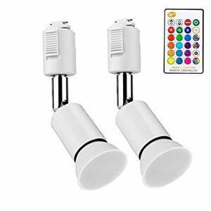 ▽■★RGB 5W ダクトレールライト 16種類の色 RGB調光対応 5W ダクトレール用スポットライト GU10 LEDスポッ