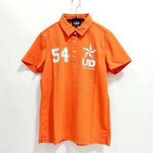 ポロシャツ レディースL オレンジ スポーツ チームウェア カラー分け