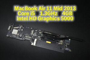 MacBook Air 11 Mid 2013 Core i5 1.3GHz 4GB Intel HD Graphics 5000 ロジックボード 中古品 3