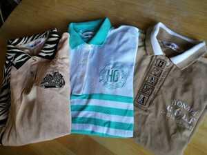本間ゴルフ 大きめMサイズ 半袖ポロシャツ 3枚 中古服 洗濯済み