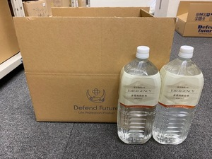 asahi industry 5 year preserved water 2L 8 pcs set emergency rations preservation meal disaster prevention * best-before date :2024 year 4 month 3 day