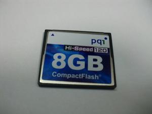 pq1 CFカード 8GB フォーマット済み 送料63円 (ミニレター) コンパクトフラッシュ