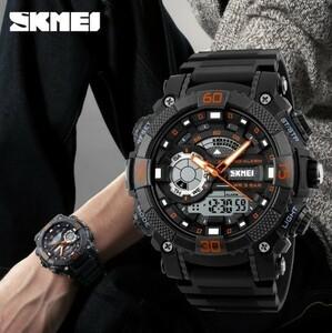 LDL128#メンズ スポーツウォッチ SKMEI ファッション アウトドア 電子 デジタル腕時計 50m 防水 レロジオ
