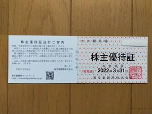 最新☆大井競馬場 株主優待証 2022.3.31まで 複数有
