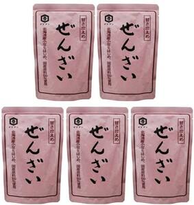 お買い得 甘さ控えめぜんざい 北海道産小豆使用 180g×5個 泉万醸造