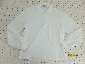 〈送料280円〉KENZO GOLF ケンゾーゴルフ レディース 日本製 柄 ニット 長袖ポロシャツ 1 白