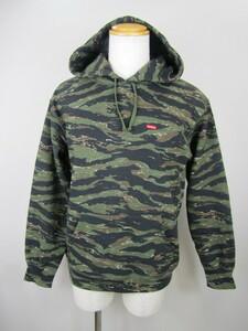 131-KM739-80♪ Supreme シュプリーム 21SS Small Box Hooded Sweatshirt Tiger Stripe Camo Logo 迷彩 パーカー Sサイズ スモールボックス