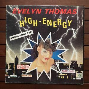 ●【house disco】Evelyn Thomas / High Energy remix[12inch]オリジナル盤《9595》