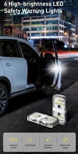 LED ドアオープンライト 2個セット 高輝度 開口部 衝突防止 ワイヤレス 防水仕様 簡単取り付け 白/黒 カラー選択あり TK-0250