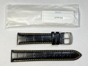 L01K013J0 SEIKO 20mm 純正革ベルト カーフ型押し ブラック SNDC89PD/7T92-0MF0用 ネコポス送料無料