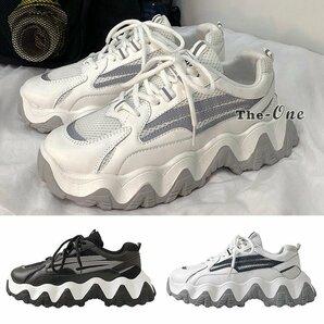 厚底スニーカー シューズ ボリューム 厚底 光る 韓国風 靴 ダッドスニーカー メンズ 厚底スニーカー シューズ ボリューム 厚底 光る 韓