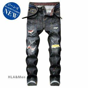 メンズジーンズ デニムパンツ ストレッチ メンズ メンズジーンズ デニムパンツ ストレッチ メンズ ストレートパンツ ジーンズ ダメージ