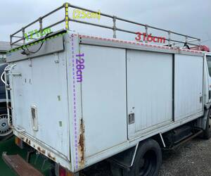 tax included } Aichi *[ approximately 3.2 x 1.7 x 1.3m] bottle car *BOX* carrier * box * warehouse * storage room * tool inserting * keep cool box * freezing * container * truck * pickup limitation
