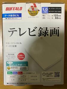 【Mac/PS4対応】 【未使用】 BUFFALO HD-PCF1.0U3-BWD ポータブルHDD 外付けHDD USB3.0