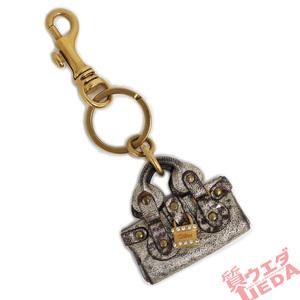 【名古屋】クロエ キーリング バッグチャーム キーホルダー パディントン ブロンズ ゴールド金具 レザー 鍵 小物 女