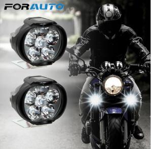 【新品】2個 オートバイ ヘッドライト 6500 18k ホワイト 超高輝度 6 led 作業 スポットライト バイク フォグランプ 1200LM led スクーター