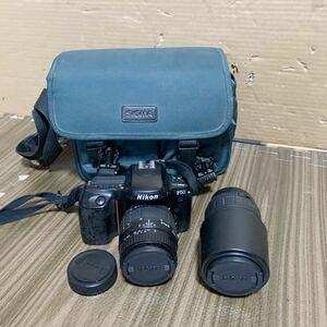(あ-710) Nikon F50 カメラ/ SIGMA ZOOM 100-300mm 1:4.5-6.7 / 28-80mm 1:3.5-5.6 レンズ / 動作未確認