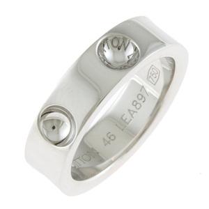 LOUIS VUITTON ルイ・ヴィトン K18WG リング 指輪 プティットバーグ アンプラント #46 7号 18金 K18ホワイトゴールド シルバー【BJ】中古