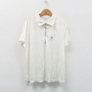【即決】LANVIN SPORT ランバン スポール 半袖ポロシャツ ホワイト系 40 [240001323814]【中古】ゴルフウェア レディース
