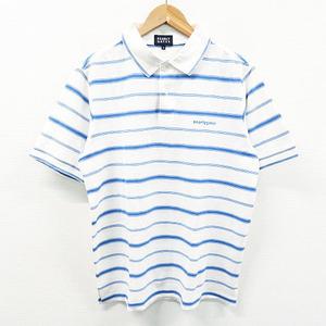 PEARLY GATES パーリーゲイツ 053-160070 半袖ポロシャツ マルチボーダー柄 ホワイト系 6 [240001465598] ゴルフウェア メンズ