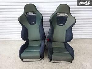 ホンダ純正 RECARO レカロ CL1 アコード ユーロR フロント シート 左右セット 運転席 助手席 セミバケ 社外 ローポジレール付 即納 棚2F-G