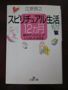 スピリチュアル生活12カ月 毎日が「いいこと」でいっぱいになる本(著)江原啓之 三笠書房 王様文庫D8-2