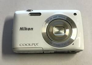 本体のみ / Nikon ニコン / デジタルカメラ / COOLPIX S4300 / シェルホワイト / 動作品 @H-02